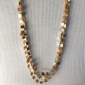 3 stranded beaded necklace